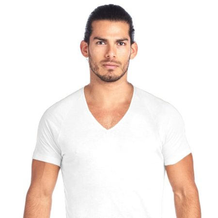 SHIRTLESS | Deep V-Neck Undershirt | White