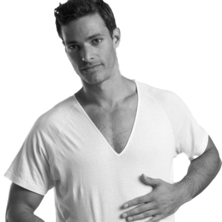 SHIRTLESS | Deep V-Neck Undershirt | White