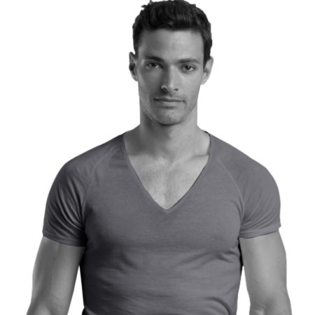 SHIRTLESS | Deep V-Neck Undershirt | Grey
