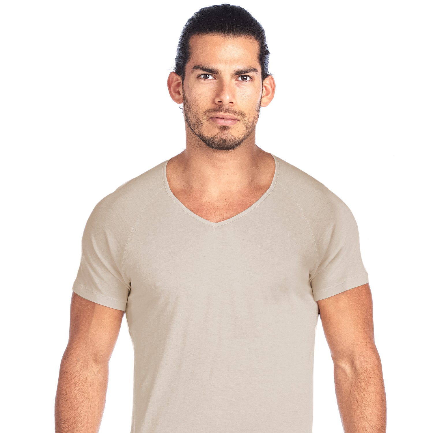 SHIRTLESS | High V-Neck Undershirt | Tan