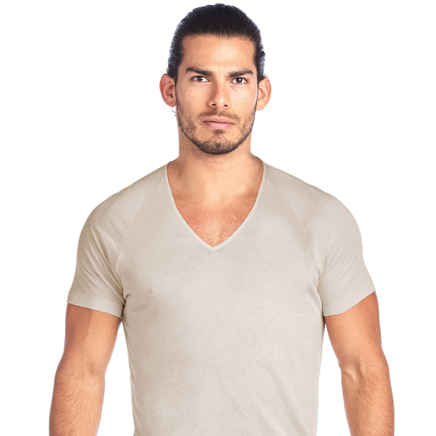 SHIRTLESS | Deep V-Neck Undershirt | Tan