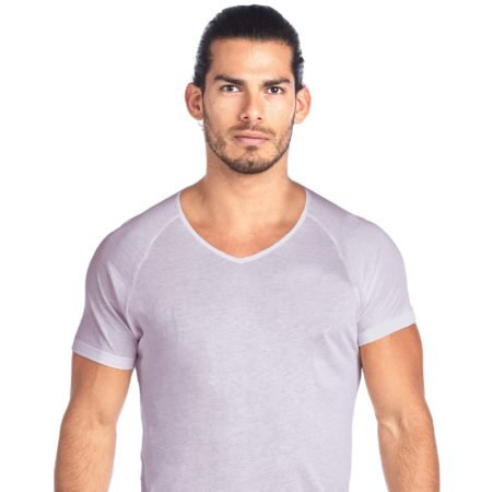 SHIRTLESS | High V-Neck Undershirt | Grey