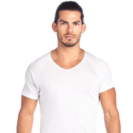 SHIRTLESS | High V-Neck Undershirt | White